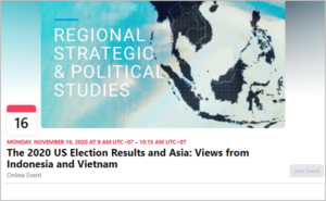 The 2020 US Election Results and Asia: Views from Indonesia and Vietnam, 11/16